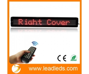 "Leadleds 26"" x 4"" Remote Programmable Led Sign Scrolling Message Board for Your Business - Red"