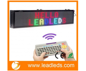 Leadleds 30 x 6-in LED Message Board Scrolling Multi Colored Text BMP Icon Hours for Business Home Office Sandwich Restaurant Beer Open - Fast Program by Remote
