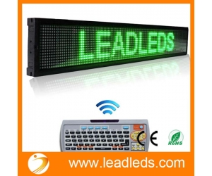 Leadleds 40 X 6.3-in Remote Programmable Scrolling Led Sign Message Board for Business - Green Message, Fast Program By Remoter