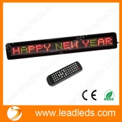 China LLDP762-Y780RGY LED display board scrolling tricolor message by remote program, high attractive factory