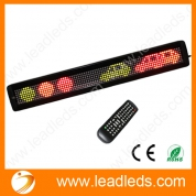 "China 26""x4"" Tri color RGY Programmable LED Scrolling Signs with Remote Control factory"