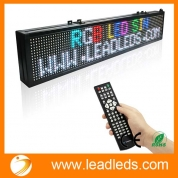 China 40 X 7.5-in Remote Led Sign Programmable Scrolling Rainbow Message--Fast Program By Remoter, Ideal for Store, Office, Home (7 Colors Message, Wireless Program, Multi-language Supported) factory