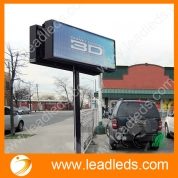 China 40*15in Outdoor Led Display Screen Waterproof Full Color Marquee Sign Super Bright Message by LAN Programming factory