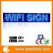China Business signs, Leadleds P5 Wifi Scrolling LED Sign Display Board for Business, Working with Smartphone and Tablet( Blue ) factory