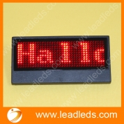 China Multi-language usb programmable rechargeable led name tag (LLD180-1236K) factory