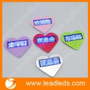 China Lovely Heart shaped programmable wearable USB LED Scrolling Name Badge (LLD180-B1236X) factory