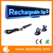 China Leadleds 12V Car Bus Led Sign Programmable Advertising Message board,Included Dc12v Cigar Lighter and Vacuum Suckers for Window Display factory