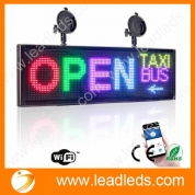 "China Leadleds 20"" Full Color Led Panel for Car Sign Display Board Fast Programmable by Smartphone WiFi factory"