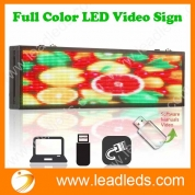 La fábrica de China Leadleds 26 pulgadas panel de mensajes LED a todo color, pantalla LED P5 Tablero de señales de video por cable de red y disco U programable rápidamente