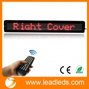"China Leadleds 26"" x 4"" Remote Programmable Led Sign Scrolling Message Board for Your Business - Red factory"