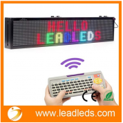 China Leadleds 30 x 6-in LED Message Board Scrolling Multi Colored Text BMP Icon Hours for Business Home Office Sandwich Restaurant Beer Open - Fast Program by Remote factory