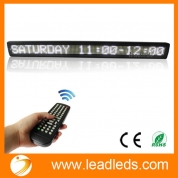 "China Leadleds 38"" x 4"" Remote Programmable Led Sign Scrolling Message Board for Your Business - White factory"