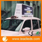 China Leadleds 3G 4G WiFi GPS Control Led Taxi Roof Advertising Signs DC9V-36V, Double-sided factory