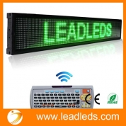 China Leadleds 40 X 6.3-in Remote Programmable Scrolling Led Sign Message Board for Business - Green Message, Fast Program By Remoter factory