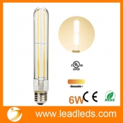 Кита Leadleds Beautiful Edison Bulb Dimmable with Long Filament LED, T10 Tubular E26 Medium Base 60 Watt Incandescent Bulb Equivalent 3000K Warm White завод
