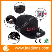 China Leadleds Fashion LED Hat Smart Cool Display Message Hat Cap Mobile APP Control Display Words Flat Peak Hat Cap factory
