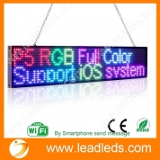 China Leadleds Full Color Digital Signage Smart Phone Program Message LED Display Board Multi-language Supported factory