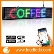 China Leadleds LED Bulletin Board Programmable by Phone for School, Storefront, Multicolored factory