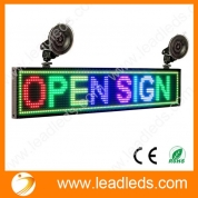 China Leadleds Led Window Signs Scrolling Message 7 Colors Wireless Sign Board Programmable factory
