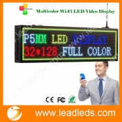 China Leadleds P5 Full Color LED Sign WIFI Wireless Programmable, Work with Iphone and Android Phone App, Multi-Color Text Images Time Display factory
