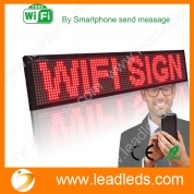 China Leadleds P5 Wifi Scrolling LED Sign Message Board for Business, Working with Smartphone and Tablet ( Red ) factory
