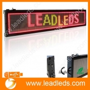 China Leadleds RGY Tri-color 30 X 6.3-in Usb Programmable LED Sign Board , Scrolling Message Display Board for Business factory