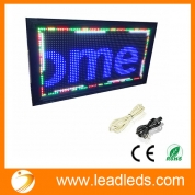China Leadleds Waterproof Outdoor Double Sided Full Color RGB LED Display Board USB Cable Programmable factory