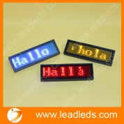 China Magnetic led badge with Programmable scrolling text message (LLD180-B1248) factory