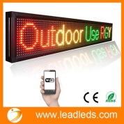 China Outdoor Waterproof Running Text Line WiFi Programmable LED Sign Multicolor, Send Message by Android Phone or iOS Phone factory