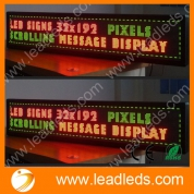 China Programmable scrolling led tricolor text sign board with customize service factory