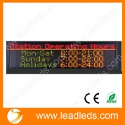 China best sellers multi-language single color indoor p7.62 ali led display factory