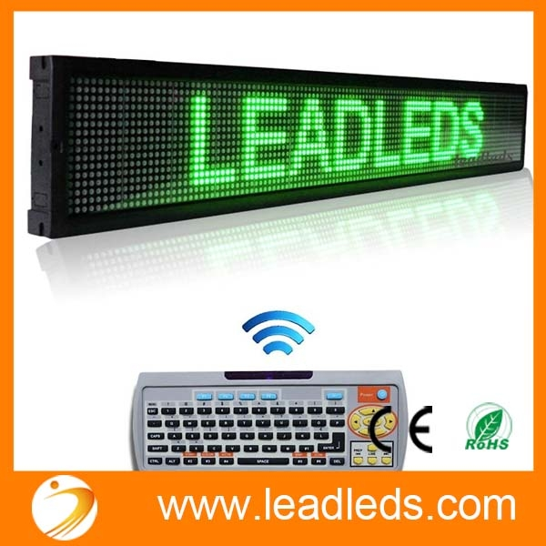 Green Board Store Sign 40 X 6 3 In Remote Led Sign