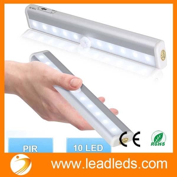 10 Led Wireless Motion Sensor Light Automatic With Magnetic Strip Battery Operated Led Closet Light